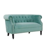 Quinones Chesterfield 54 inches Rolled Arms Loveseat by Andover Mills™