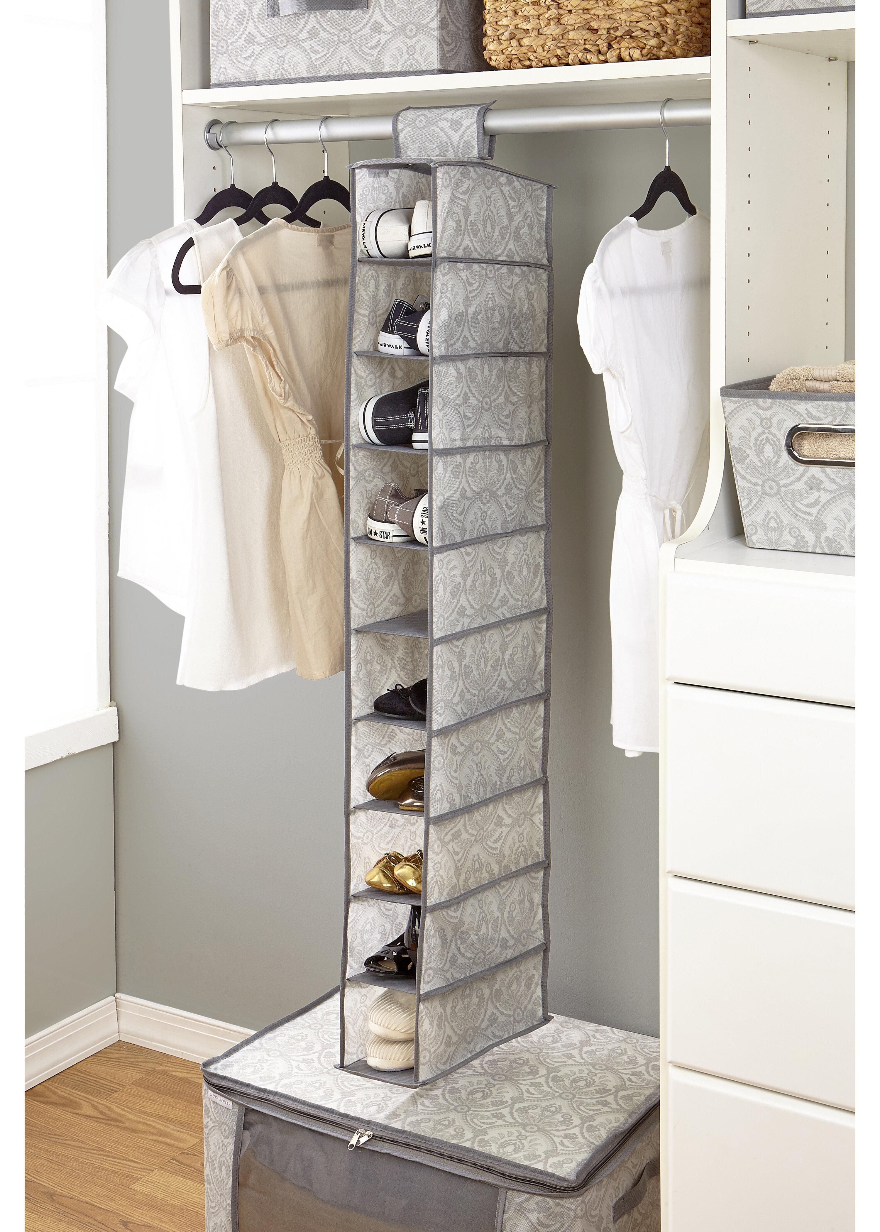 Laura Ashley Almeida 10 Compartment Hanging Shoe Organizer Reviews Wayfair