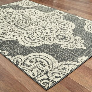 Salerno Over-scale Medallion Ivory Indoor/Outdoor Area Rug