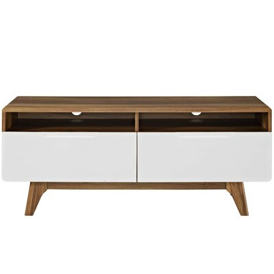 Brayden Studio Coledale TV Stand for TVs up to 50 Color: Walnut-White