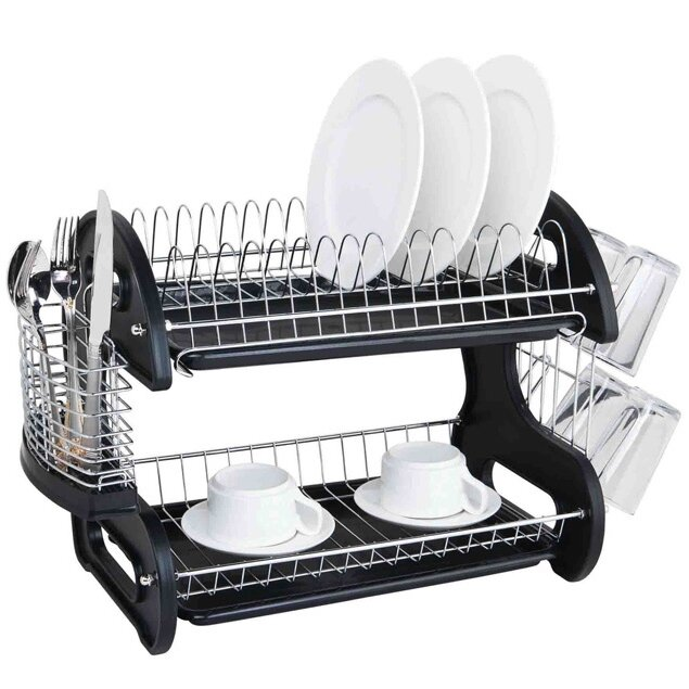 Sleek Contemporary 2 Tier Dish Drainer
