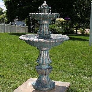 Alvis Fibergl Tiered Garden Water Fountain
