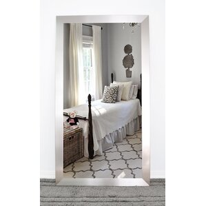 rectangle brushed nickel mirror