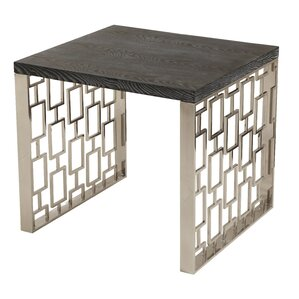 Ava Rectangular Metal End Table by Willa Arlo Interiors