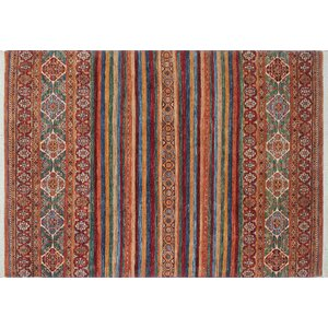 One-of-a-Kind Acer Hand-Knotted Rectangle Rust Area Rug