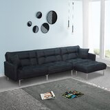 Arturas 109'' Right Hand Facing Sofa & Chaise with Ottoman by Latitude Run