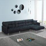 Biorn 109 Reversible Sleeper Sofa & Chaise with Ottoman by Latitude Run®