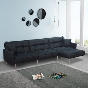 Mixson 109 Reversible Modular Sofa  Chaise with Ottoman by Ivy Bronx