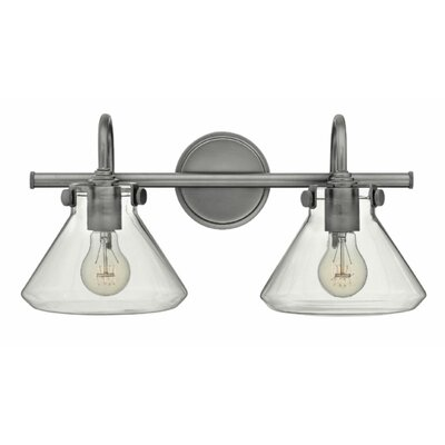 Ebern Designs Dingess 2-Light Vanity Light Finish: Antique Nickel