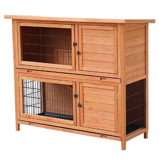 Chaska Wood For Rabbit Hutch With Ramp Slide Out Tray