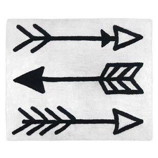 Floor Cotton Black/White Area Rug BySweet Jojo Designs