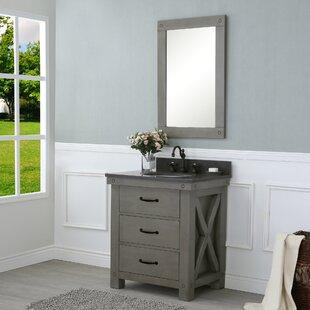 Jessen 30 Single Bathroom Vanity Set with Mirror by Williston Forge