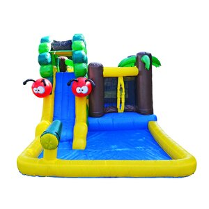 Caterpillar Water Slide and Bounce House