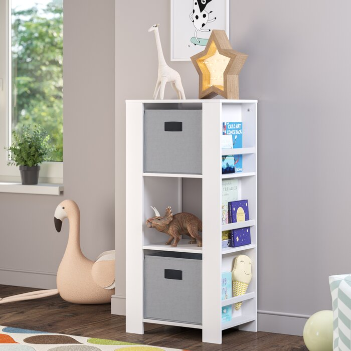 Reliford Kids Cubby Storage Tower 37 Bookcase