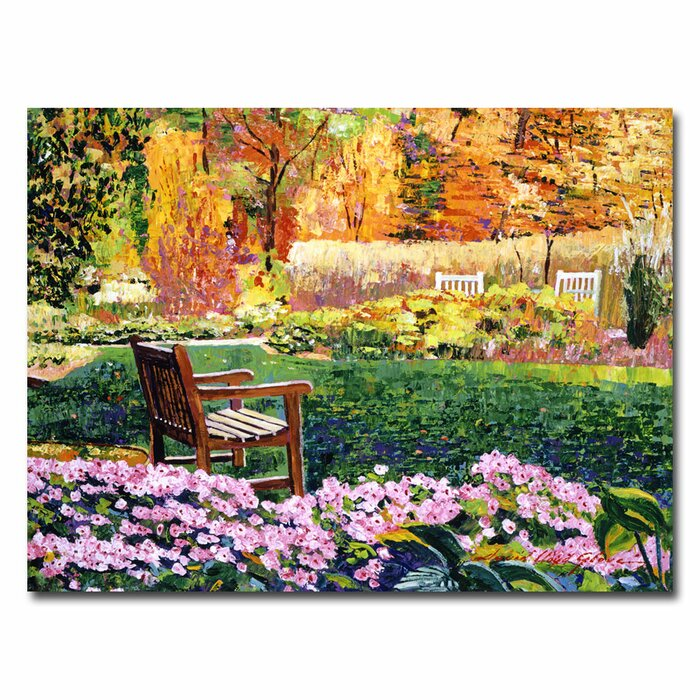 \'Secret Garden Chair\' by David Lloyd Glover Framed Painting Print on  Wrapped Canvas
