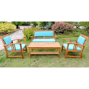 Manrique Patio 4 Piece Sofa Seating Group with Cushions