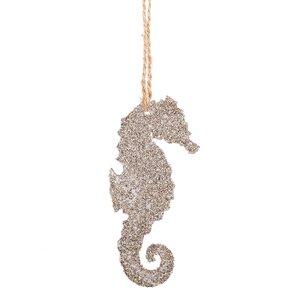 Glittered Sea Horse Hanging Figurine