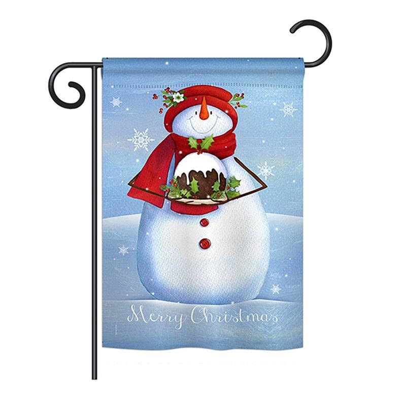 Breeze Decor Warm Wish Snowman Winter Seasonal Christmas Impressions 2 Sided 19 X 13 In Garden Flag Wayfair
