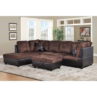 Akash Sectional with Ottoman by Latitude Run SKU:EB585833 Details
