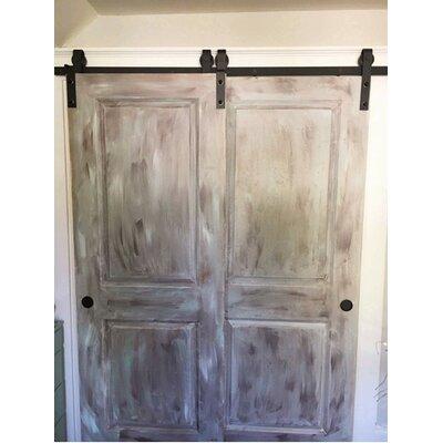 Homacer Sliding Single Track Bypass Double Door Classic Design Barn Door Hardware