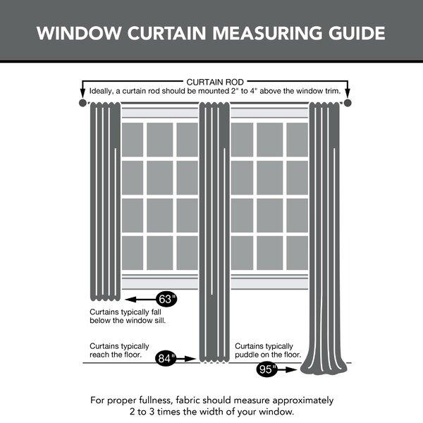 Laurel Foundry Modern Farmhouse Marc Floral Sheer Rod Pocket Single Curtain Panel Reviews Wayfair