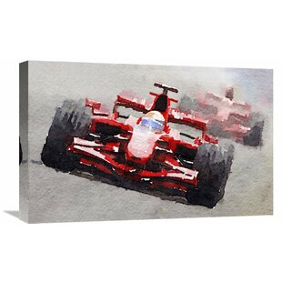 'Ferrari F1 Race' Painting Print on Wrapped Canvas by Naxart