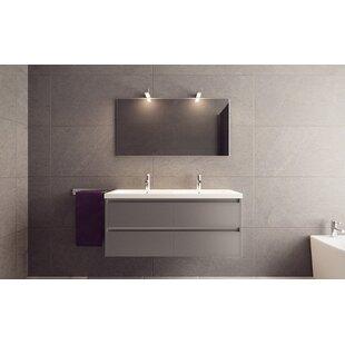 Alec 47 Wall Mounted Double Bathroom Vanity Set ByOrren Ellis