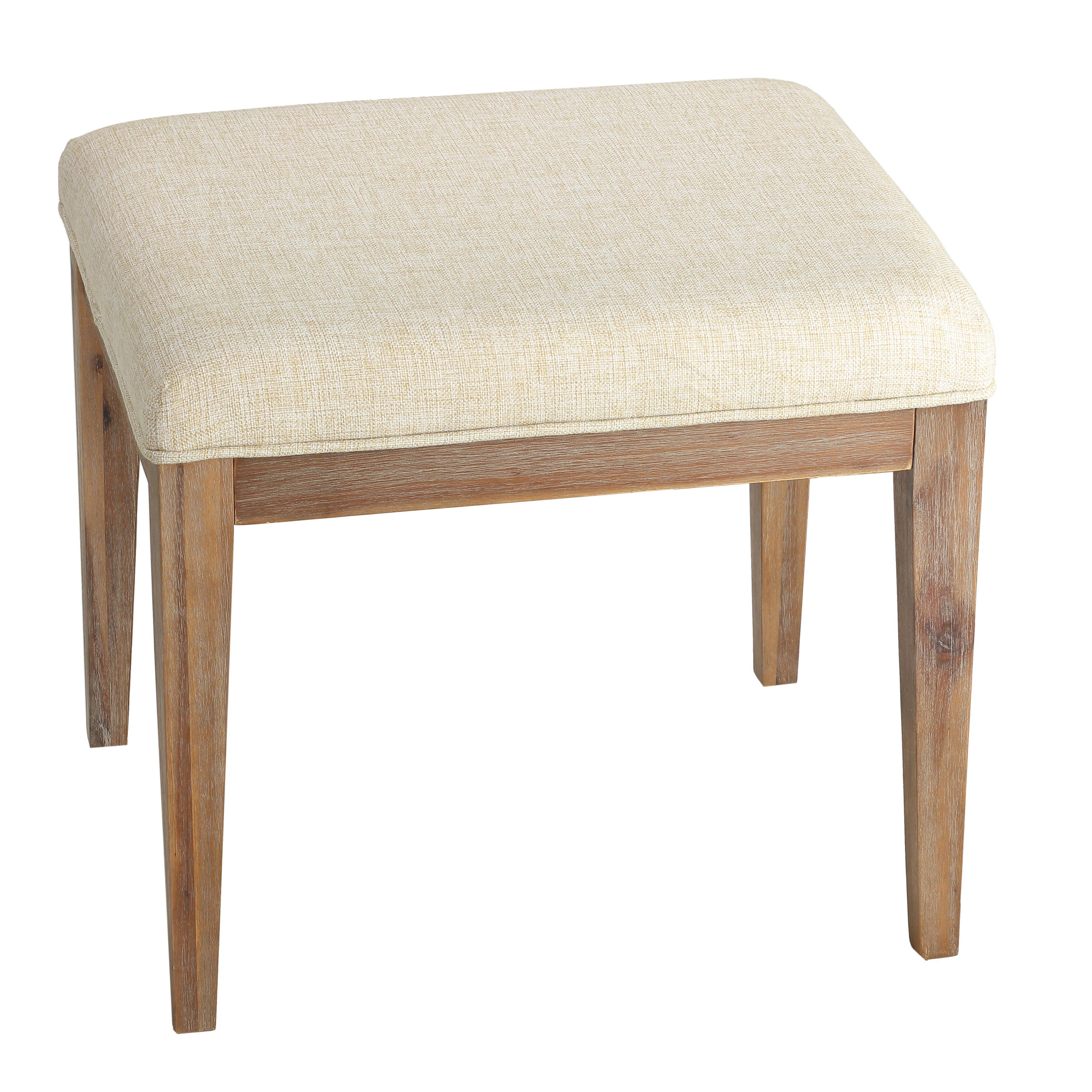 Gracie Oaks Dorrington Solid Wood Vanity Stool Reviews Wayfair