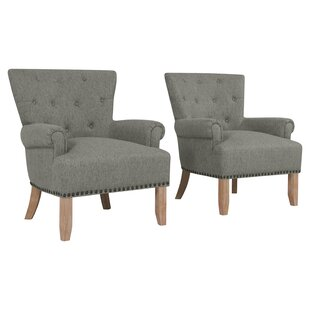 Ryde Button Tufted Armchair (Set of 2) by Gracie Oaks