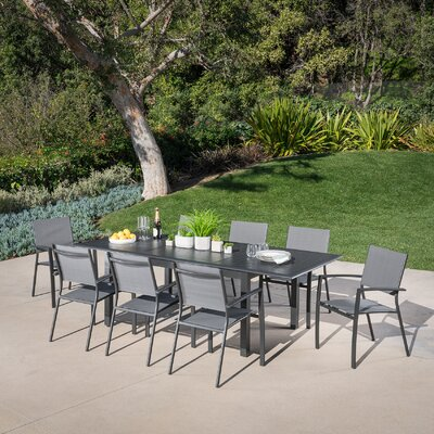 Fiatt 9 Piece Dining Set by Latitude Run Cool