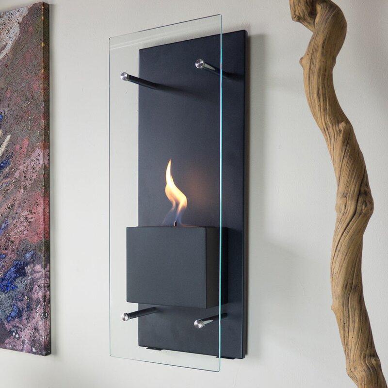 Nu-Flame Canello Wall Mount Bio-Ethanol Fireplace & Reviews   Wayfair