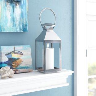 Best Reviews Glass Lantern By Breakwater Bay