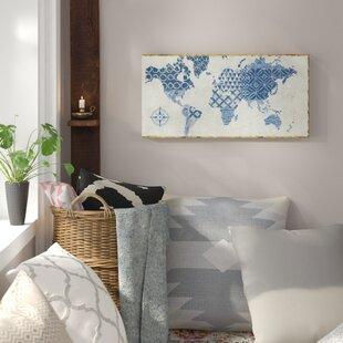 Indigo art wayfair indigo gild map maki graphic art on wrapped canvas gumiabroncs Gallery