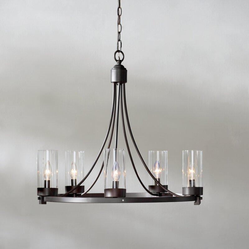 Laurel foundry modern farmhouse lighting wayfair agave 5 light candle style chandelier aloadofball Gallery