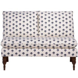 Perkins Armless Loveseat by Alcott Hill