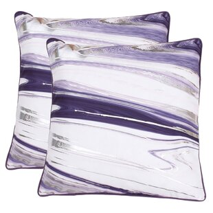 Hunsinger Raised Foil Throw Pillow (Set of 2)