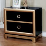 Keesee Wooden 2 Drawer Nightstand by Mercer41
