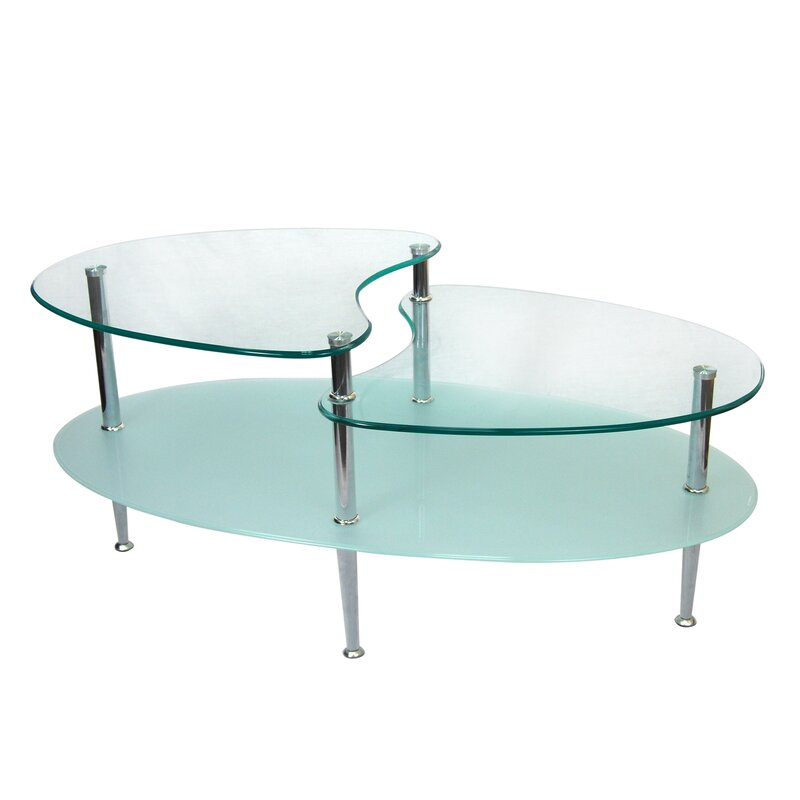 Perfect Cate Glass Oval Coffee Table