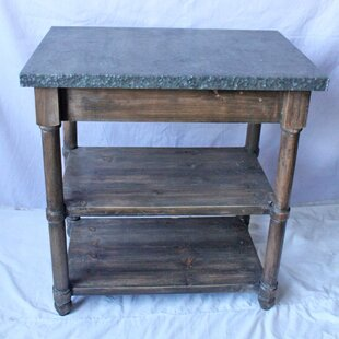 Armer Rustic End Table with Storage