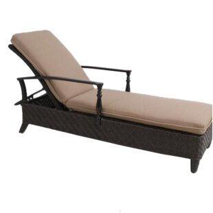 Bungalow Adjustable Reclining Chaise Lounge with Cushion