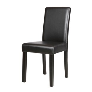 Tiphaine Upholstered Side Chair in Black Set of 4 by Ebern Designs
