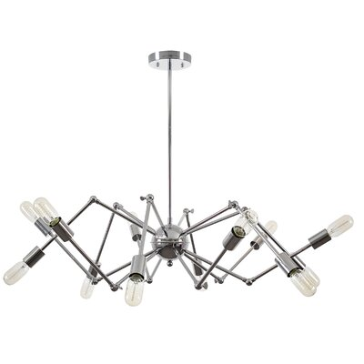 12-Light Sputnik Chandelier Light Society Finish: Chrome