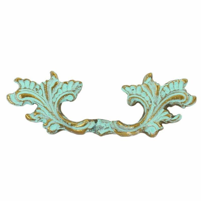 Cabinet Drawer Deco Square Knobs Antique English Knob