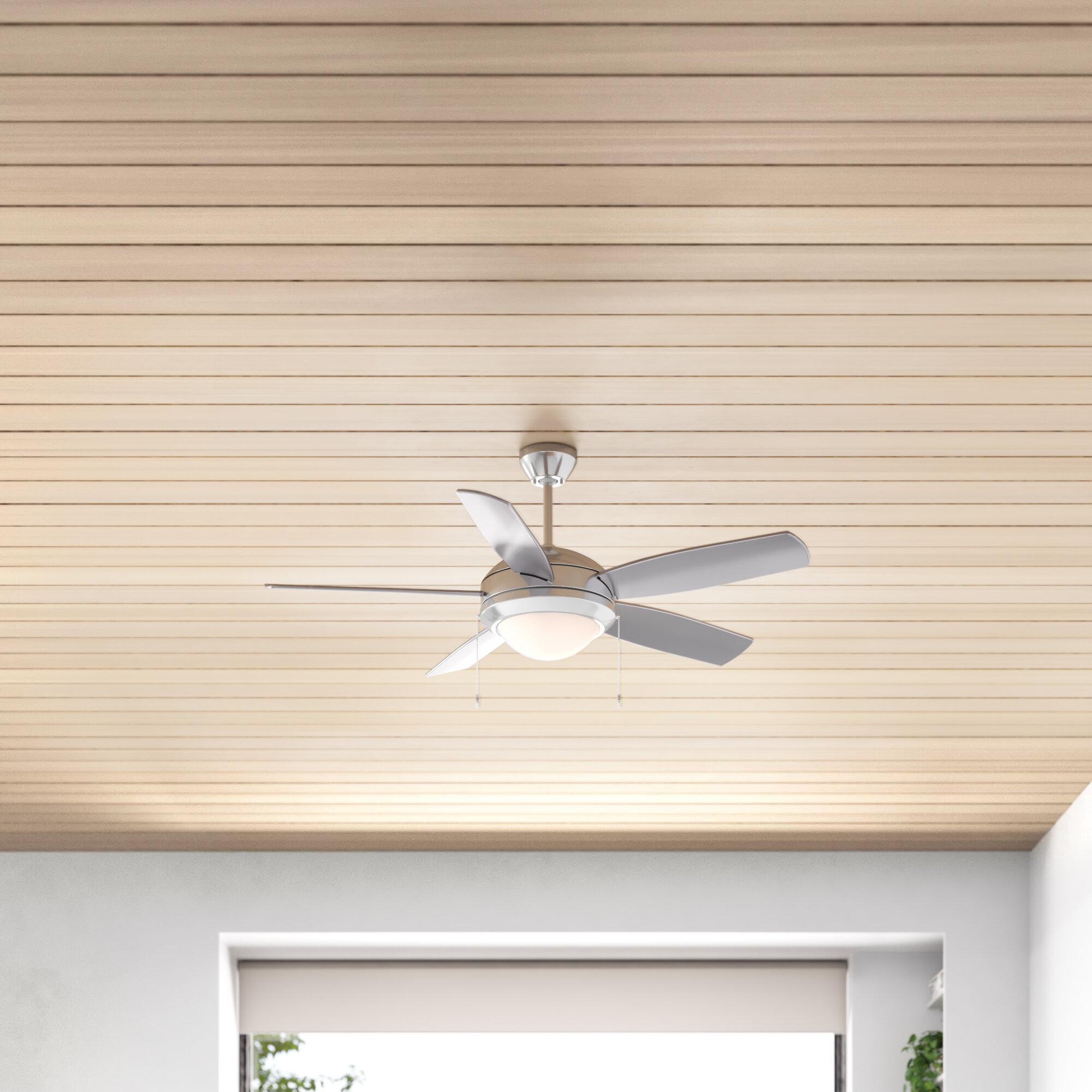 44 Verdell 5 Blade Ceiling Fan Light Kit Included Reviews Allmodern