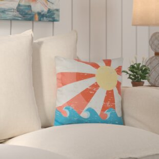 Evette Sunbeams Geometric Outdoor Throw Pillow