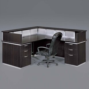 Pimlico Right L-Shape Reception Desk by Flexsteel Contract