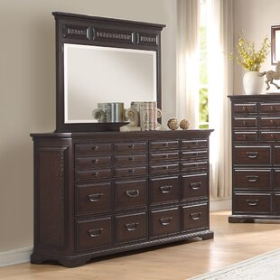 Plumcreek 20 Drawer Double Dresser with Mirror