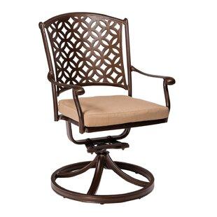 Casa Swivel Patio Dining Chair with Cushion by Woodard