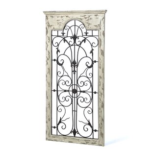 Gate White Wood And Metal Wall Décor