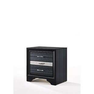 Read Reviews Singer Wooden 3 Drawer Nightstand by Mercer41